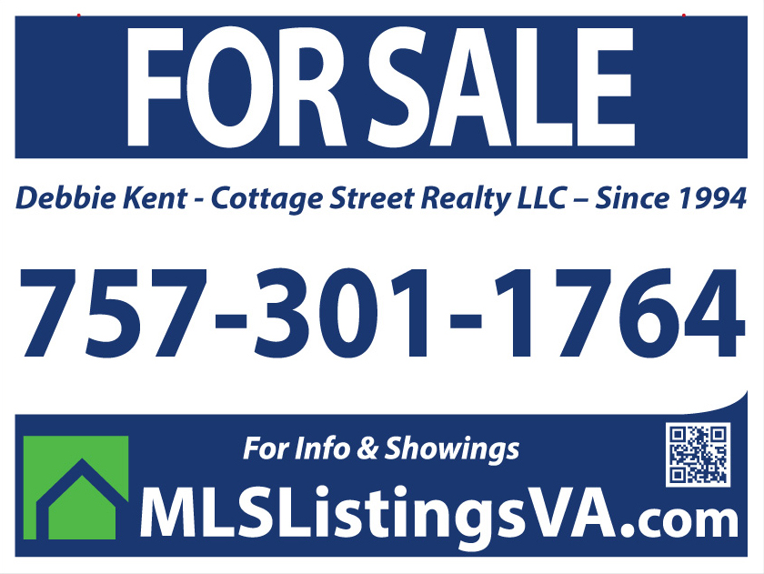 Virginia Beach and Surrounding Areas Flat Fee MLS Sign Panel