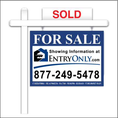 Flat Fee MLS New England For Sale Sign