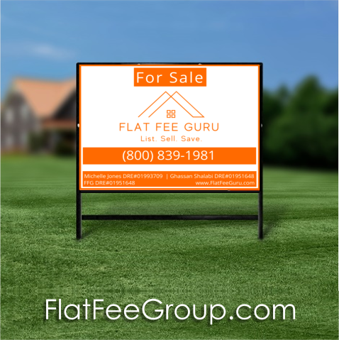 CA flat fee sign