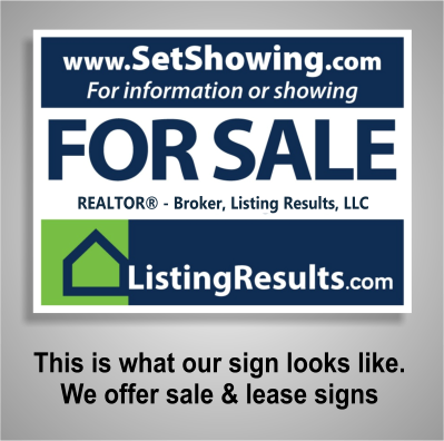 Listing Results Sign