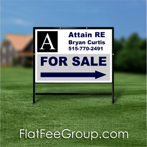 Iowa Flat Fee Real Estate Sign