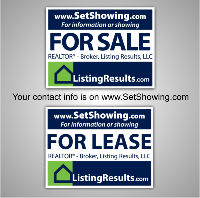 sale and lease signs